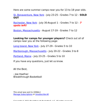 New York Summer Camps for 13 to 18 Year Olds