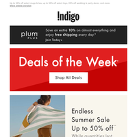 Deals Of The Week + Summer SALE Up To 50% Off