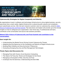 Don't Miss Out: CSO's Future of Cybersecurity and Trust Summit