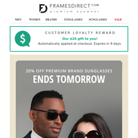 Sunglasses Sale Ends Tomorrow: 20% Off Versace, Prada, Persol & More