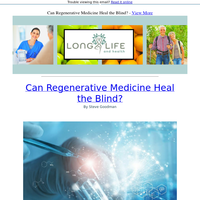 Is Regenerative Medicine the Cure to Blindness?