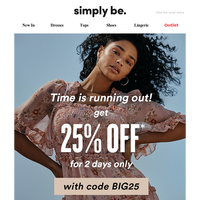 25% OFF - 2 DAYS ONLY!