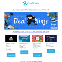 🔥 Curated Prime Day Gift Card Sales n' More