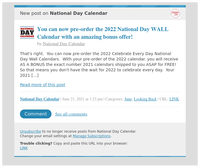 [New post] You can now pre-order the 2022 National Day WALL Calendar with an amazing bonus offer!