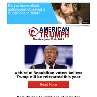 A Third Of Republican Voters Believe Trump Will Be Reinstated This Year...