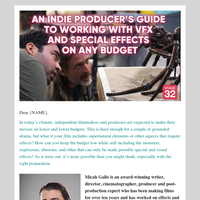 Working with VFX and Special Effects: An Indie Producer's Guide