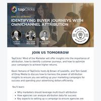 [REMINDER] Identifying Buyer Journeys with Omnichannel Attribution