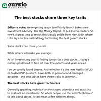 The best stocks share three key traits