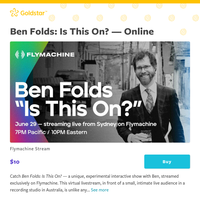 Ben Folds fans: Stream this intimate virtual concert that's promised to be unique and interactive!