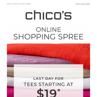 Don't miss our 2-Day Shopping Spree
