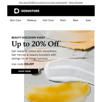 Up to 20% off lots of luscious beauty finds