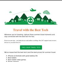 Cheap Travel Tech For Summer