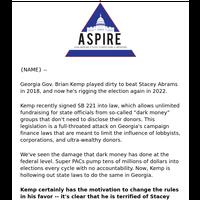Brian Kemp is already flooding Georgia with dark money