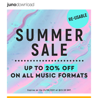 Summer Sale is Here! Up to 20% Discount