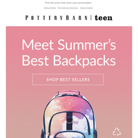 Gear up for summer adventures with a backpack in 50+ prints & patterns! 🎒
