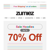Save Up to 70% Off + Free Shipping!