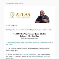 🗳 NY: VOTE TOMORROW! 🗳