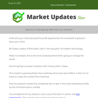 """Bill Gates going """"all-in"""" on new tech"""