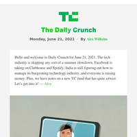 Daily Crunch - Facebook rolls out podcasts and Live Audio Rooms for US listeners