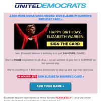 [SIGN] HAPPY BIRTHDAY Elizabeth Warren!