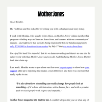 A Mother Jones magazine from the late '90s.