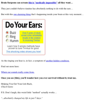 Ringing Ears? Eat THIS for Breakfast & Destroy Tinnitus Fast...