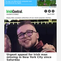 Irish man missing in New York City - family in Ireland issues urgent appeal for information
