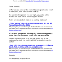 """This Is The No. 1 """"Must-Own"""" Penny Stock In 2021"""