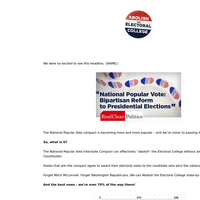 Abolishing the Electoral College \