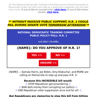 does {NAME} approve of H.R. 1?? →