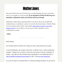 Corrected: A Mother Jones magazine from the late '90s.