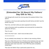 [Extended for 24 Hours] My Fathers' Day Gift to You...
