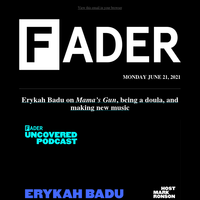 Erykah Badu is the latest guest on UNCOVERED with Mark Ronson