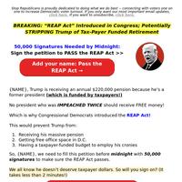 Strip Trump of his 𝙁𝙍𝙀𝙀 money →