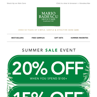 SUMMER DISCOUNT ☀ Up to 20% Off!