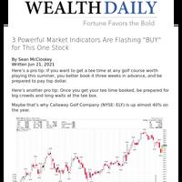 3 Powerful Market Indicators Are Flashing \