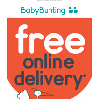 Shop now with FREE online delivery* until tomorrow night!