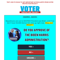 help us SAVE the Biden Administration, {NAME}