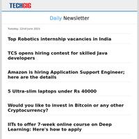 Top Robotics internship vacancies in India | TCS opens hiring contest for skilled Java developers