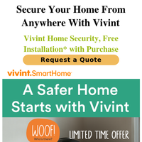 Vivint Home Security, Free Install* with Purchase