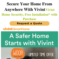 This Summer, help protect your home with Vivint Home Security