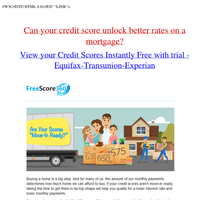 {NAME}, Your transunition Equifax And Experian credit scores