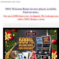 Wanna get 4500% bonus on top of your deposit, to play? You're in luck! Find out more..