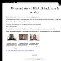 30-second stretch HEALS back pain & sciatica