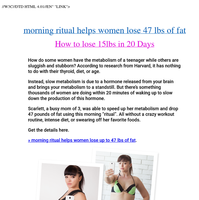 How to lose 20lbs in 30 days