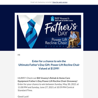 Enter the Father's Day Power Lift Recline Chair Giveaway for your chance to win!