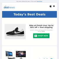 Up to 50% off Nike at Finish Line |  Computers Garage Sale at Woot! |  Sam's Club 4th of July Home Event