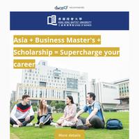{NAME}, scholarships in Hong Kong!