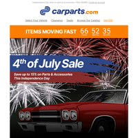 4th of July: Celebrate Your Freedom to Save 15% Today