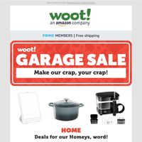 Woot! Garage Sale: NEW at USED prices!